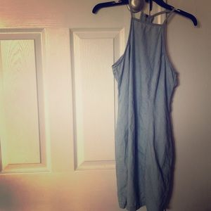 Chic & Fitted light denim Mimi Chica sundress.